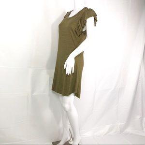Chaser Vintage Triblend Flutter Sleeve Hi-Lo Dress